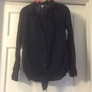 Old navy tie front blouse